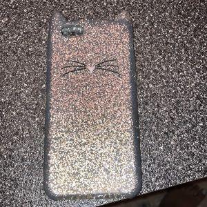iPhone 7 Kate Spade Glitter Cat Case (silicone)